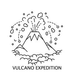 active volcano icon vector image