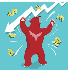 Bear market downtrend stock market vector image