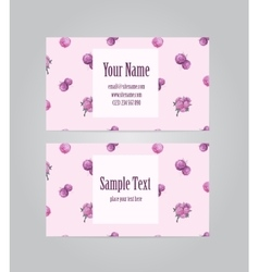 Beautiful floral business card vector image
