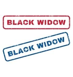Black widow rubber stamps vector