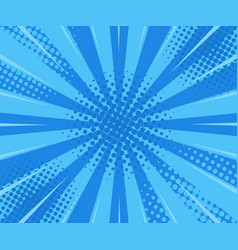 blue retro vintage style background with rays vector image