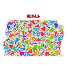 Brazil distrito federal map - mosaic color vector