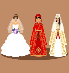 Brides countries world vector