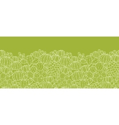 Cactus plants horizontal seamless pattern vector image