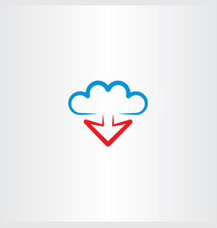 cloud and arrow download icon vector image