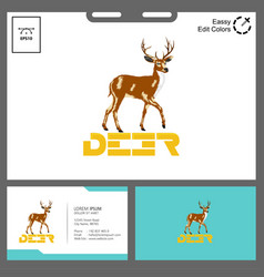deer logo reality concept for outdoor event vector image