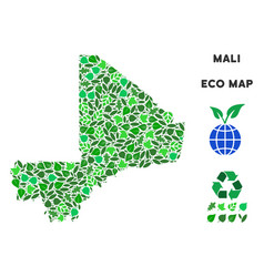 Ecology green mosaic mali map vector