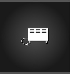 electric heater icon flat vector image