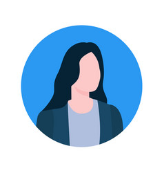 Faceless female online consultant executive worker vector