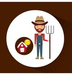 farm countryside people farmer design vector image