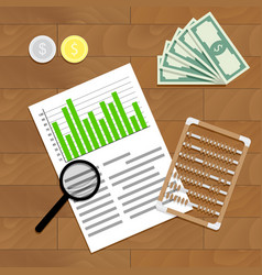 financial audit vector image