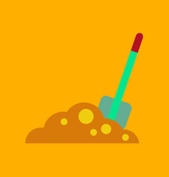 Flat icon on background halloween plot shovel vector