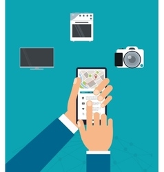 Gadgets icon set Internet of things design vector