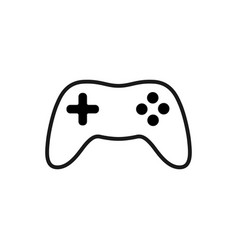 gamepad outline icon isolated on white background vector image