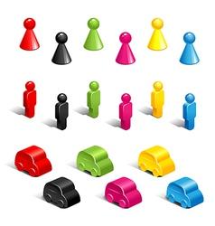 Gaming pieces vector