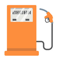 Gas station flat icon petrol and fuel pump sign vector