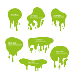 Goo dripping splodges vector