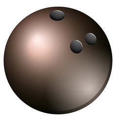 Gray bowling ball on white vector image
