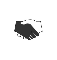 handshake icon graphic design template isolated vector image