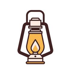 hiking lantern icon vector image