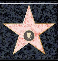 Hollywood walk fame vector