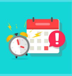 Important due date deadline in calendar organizer vector