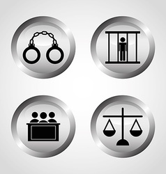 justice icons vector image