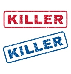 Killer rubber stamps vector