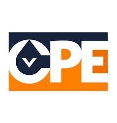 Letter cpe logo mining vector