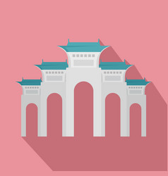 liberty square icon flat style vector image