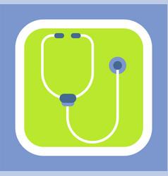 listening tool stethoscope logo clinic vector image