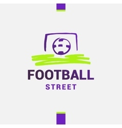 Logo template street football soccer Ball vector