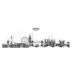 london city gradient 7 vector image