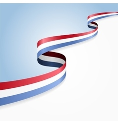 Luxembourg flag background vector image