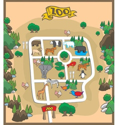 Map of zoo park vector