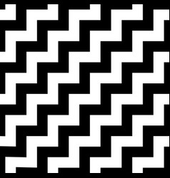 memphis style chevron zigzag seamless pattern vector image