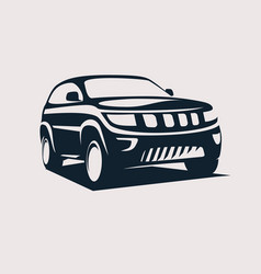 modern suv logo template offroader car stylized vector image
