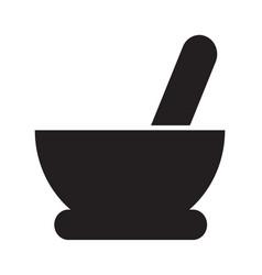 Mortar pestle icon design vector