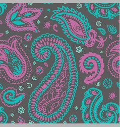 paisley or turkish cucumber oriental seamless vector image