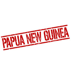 Papua new guinea red square stamp vector