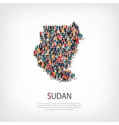 people map country Sudan vector image