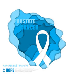 prostate cancer background vector image