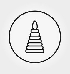 pyramid toy universal icon editable vector image