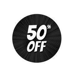 sale 50 percent off tag discount banner design vector image