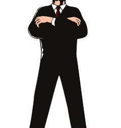 Secret Service Agent Body Guard vector image
