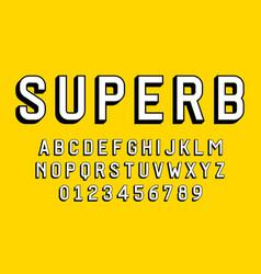 Set alphabets font modern design 3d concept vector