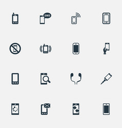 Set of simple smartphone icons vector