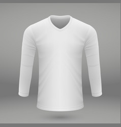 shirt template for jersey vector image