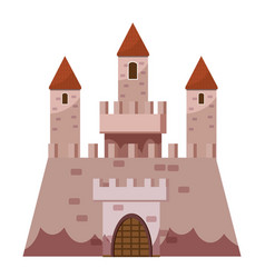 Stronghold castle icon cartoon style vector