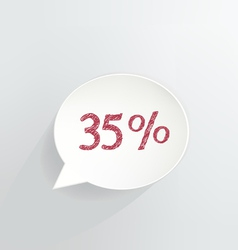 Thirty Five Percent Discount vector image